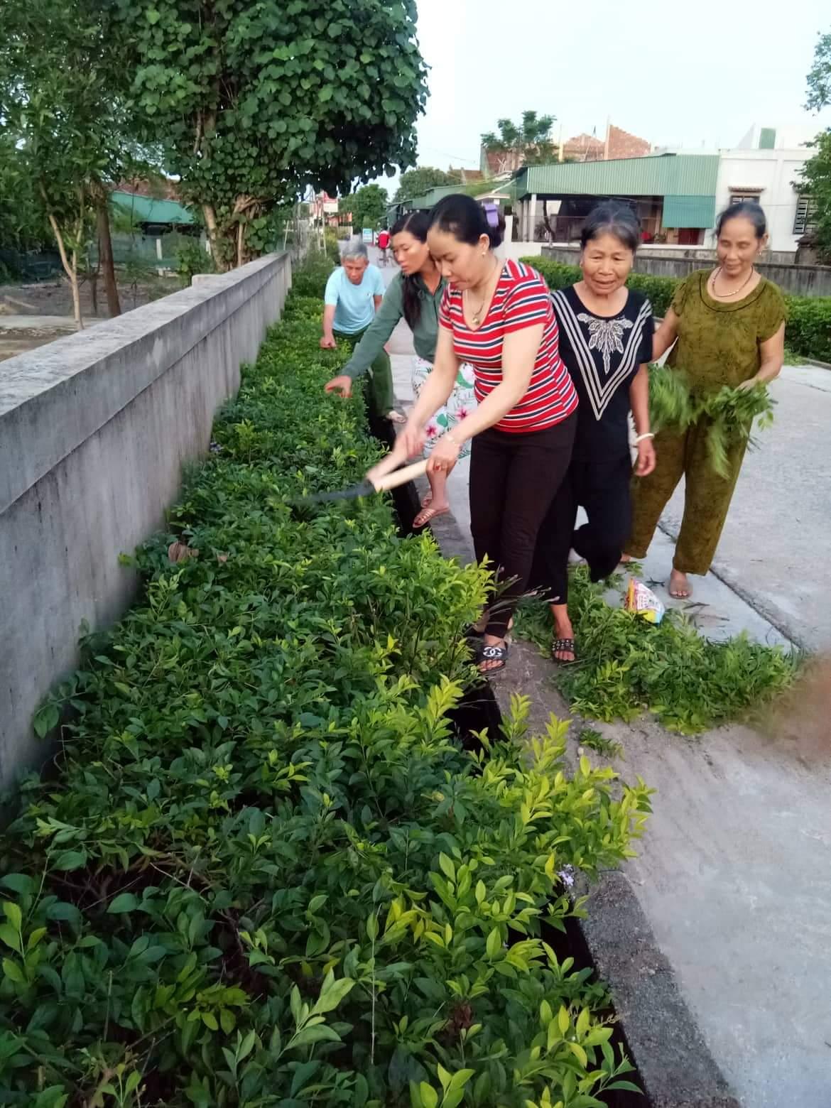 Hội liên hiệp phụ nữ Kỳ Hải phát động các hoạt động xây dựng Nông thôn mới – xây dựng khu dân cư kiễu mẫu.